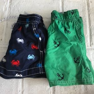 Lot of 2 Baby Boys Bathing Suit Bottoms